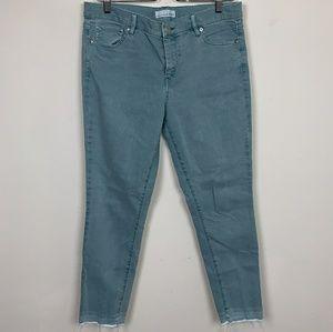 LOFT Jean Modern Skinny Crop Blue Sz: 30/10